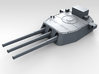 """1/350 16""""/45 MKI HMS Nelson Turrets 1945 3d printed 3d render showing B Turret detail"""