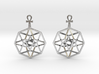 TesserAnkh-earrings 3d printed