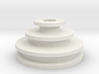 Unimat-type lathe motor pulley for 8mm shaft 3d printed