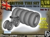 1-16 Chevy LRDG Tire And Rims For FUD 3d printed