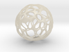 GeoApple  3d printed geometric cell structured apple