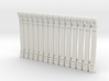 Pilaster, HO scale x 14 3d printed