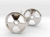 Nuclear Hazard Earrings 3d printed