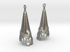 Corroded Cone Earrings 3d printed