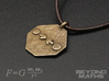Pendant Newton's Law Of Gravitation 3d printed Polished Bronze Steel