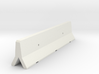 OO Scale Concrete Motorway Barrier 4m long 3d printed 3D render of single concrete barrier