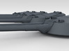"1/600 RN WW1 13.5"" MKV Guns x5 HMS Iron Duke 3d printed 3d render showing turret detail"