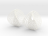 Enneper Voronoi Dream Earrings (3 sizes) 3d printed