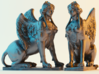 Greek Sphinx of Thebes and Oedipus  3d printed