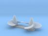 U Boat VIIc Propellers 3d printed