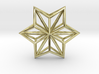 Origami STAR Structure, Pendant.  3d printed