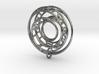 Single Strand Spiral Voronoi Interlocking Pendant 3d printed