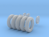 1-35 Tires And Wheels 700x16 Set1 3d printed
