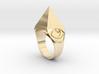 Mystical Pyramid Ring 3d printed