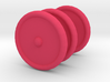 3 Scooter Wheels (2 Back 1 Front) 3d printed Three Pink Scooter Wheels