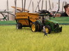 Green tractor mirrors 3d printed
