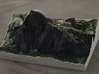 Half Dome, California, USA, 1:25000 3d printed