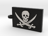 Jolly Roger (Pirate Flag) Pendant 3d printed