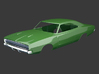 Dodge Charger 1968 Hood 1/8 3d printed