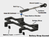 Flexin' Battery Strap (B6,B6D) 3d printed Assembly Instructions. *Linkage not included.