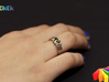 Entangled Love Sz16 3d printed Photo with ring in Stainless Steel