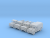 1/285 Scale Jeep Military Truck Set 3d printed