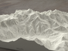 8''/20cm Mt. Blanc, France/Italy, Sandstone 3d printed Radiance rendering of model from the north