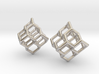 Diamond earrings 3d printed