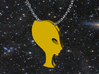 Pendentif Princess Alien 3d printed suggestion for how to wear the pendant with a chain