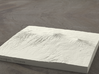 6''/15cm Mt. Kilimanjaro, Tanzania, Sandstone 3d printed Radiance rendering of model, viewed from the south.