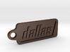 Dallas, Texas Keychain 3d printed