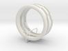 Plastic Puzzle Rings! (3-piece set, Size 9) 3d printed