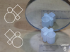 Improved Ambiguous Cylinder Illusion (Layout 6) 3d printed 3d printed object in front of mirror