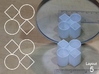 Improved Ambiguous Cylinder Illusion (Layout 5) 3d printed 3d printed object in front of mirror
