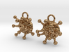Cannabis Trichome Earrings - Nature Jewelry 3d printed