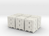 Pallet Of Cinder Blocks 5 High 6 Pack 1-87 HO Scal 3d printed