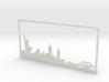 New York Skyline - 4.125 X 8.625 (M) 3d printed