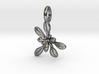 Small Arabidopsis Rosette Pendant 3d printed
