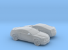 1/160 2X 2006-14 Cadillac CTS Coupe 3d printed