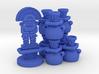 Mayan tech/temple & score tokens (8 pcs) 3d printed