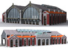 NGG-BVA01cg - Large Railway Station 3d printed