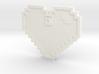 Pixel Art Heart Pendant 3d printed White Pendant. Can be easily painted over with Spray paint or Acrylic Paint.