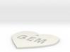 "Heart Name Tag Medium (2"") 3d printed"