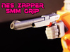 NES Inspired Zapper Gun w' 5mm Grip 3d printed hand painted black high-def acrylate print