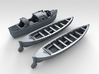 1/144 Scale HMS Glowworm Boat Set 3d printed 3d render showing set
