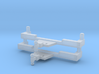 Trailer Hitch Pickup Truck With Balls 2 Pack 1-87  3d printed