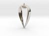 Sapphic: Pearl pendant 3d printed