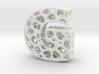 Voronoi Letter ( alphabet ) G 3d printed