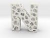 Voronoi Letter ( alphabet ) N 3d printed