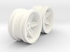 Wheels - M-Chassis - Coffin Spokes - 3mm Offset 3d printed
